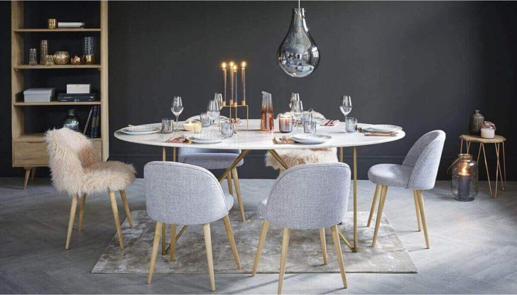 Idee per arredare la sala da pranzo in marmo
