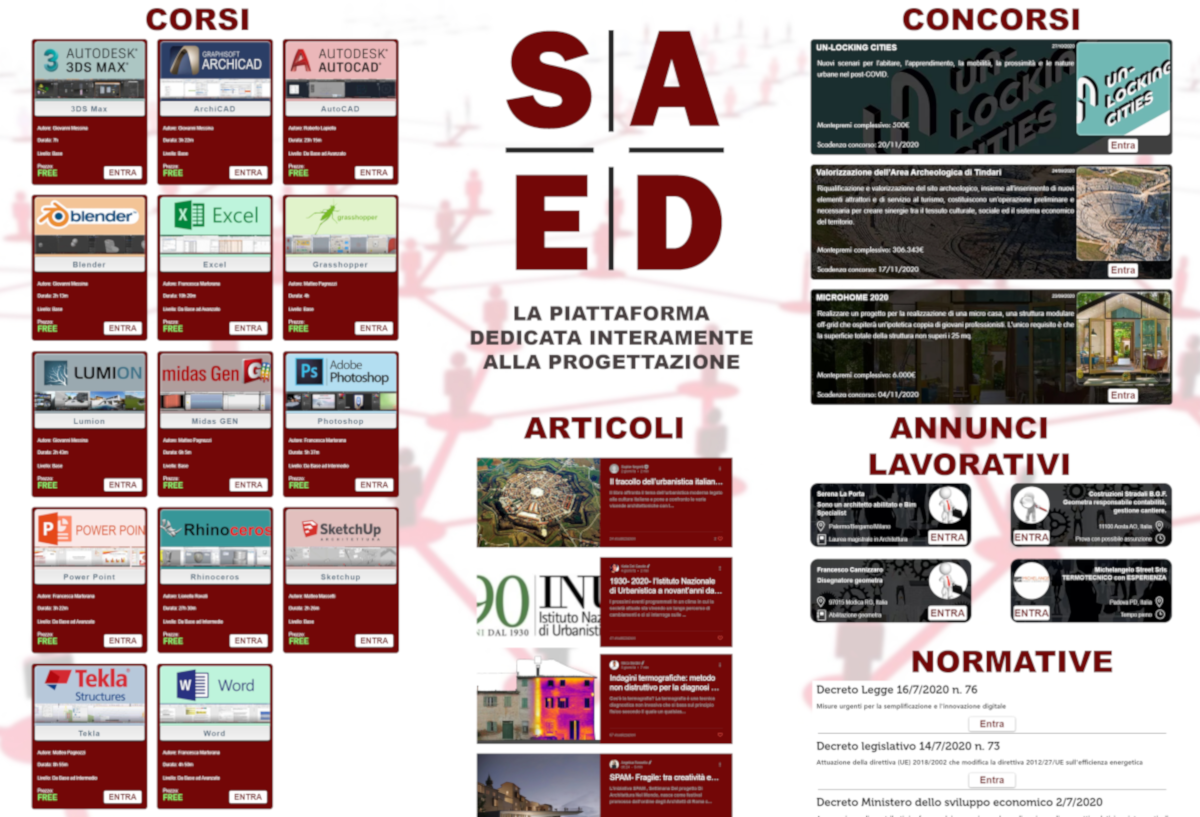 SAEDcom, la piattaforma dedicata alla progettazione