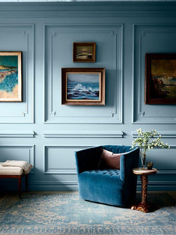 il colore blu in casa