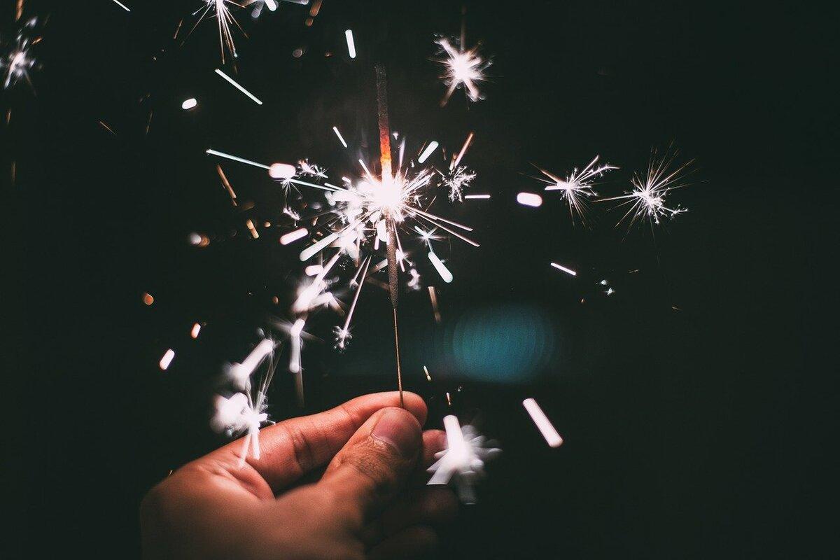 Capodanno 2021 - stella scintillante