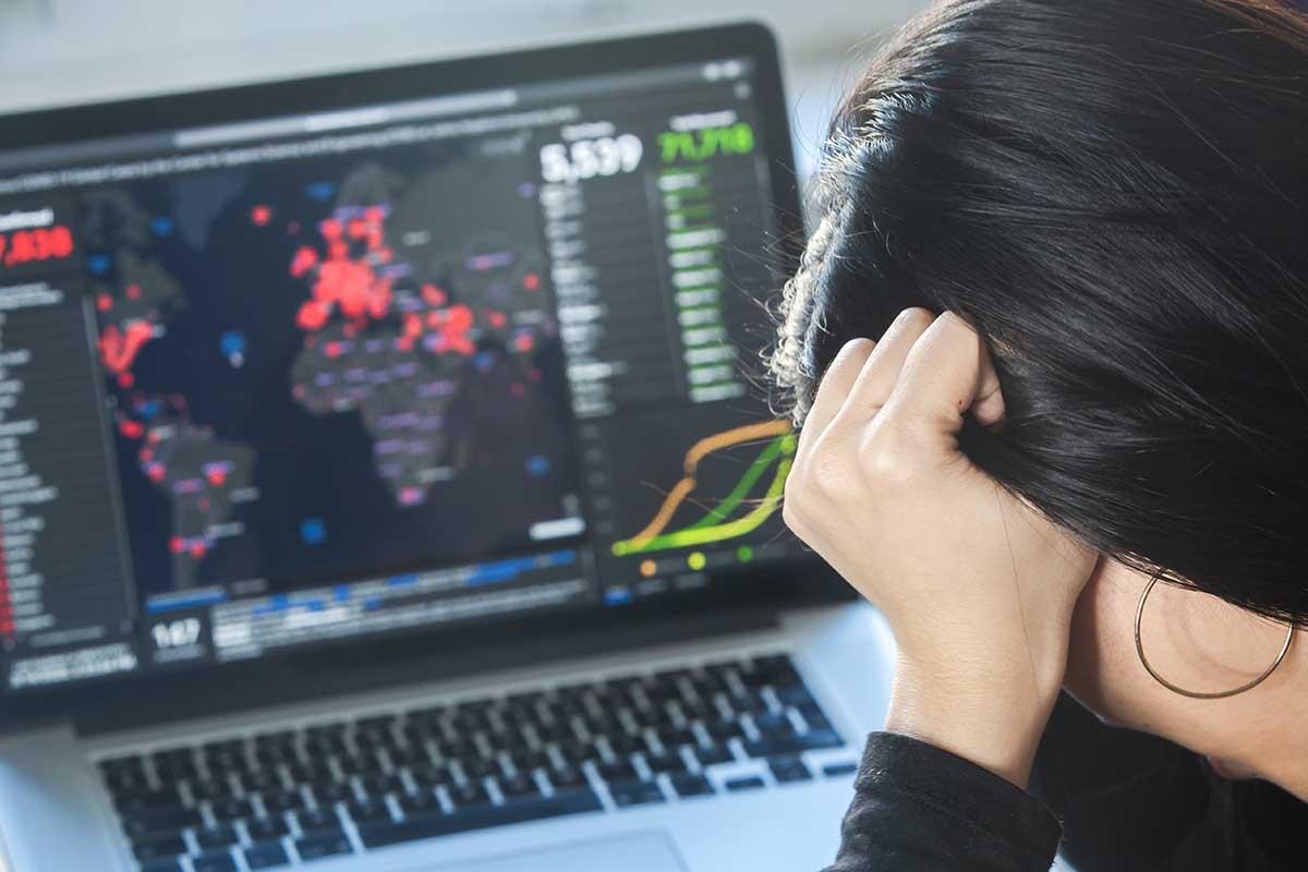 Ansia e depressione in aumento con il Covid-19