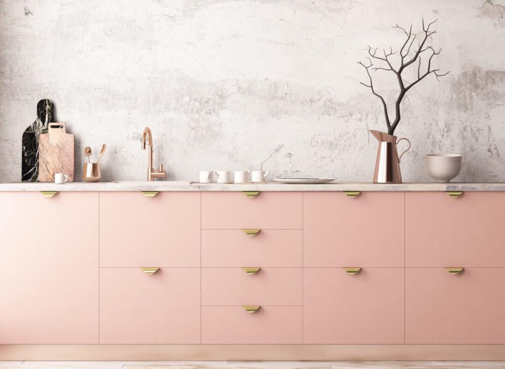 arredare casa con il color rosa carne