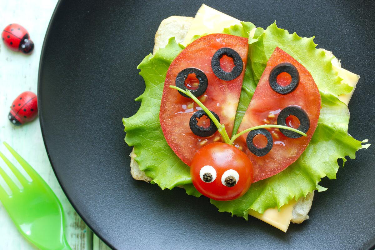 Cibi giusti bambini - panino creativo