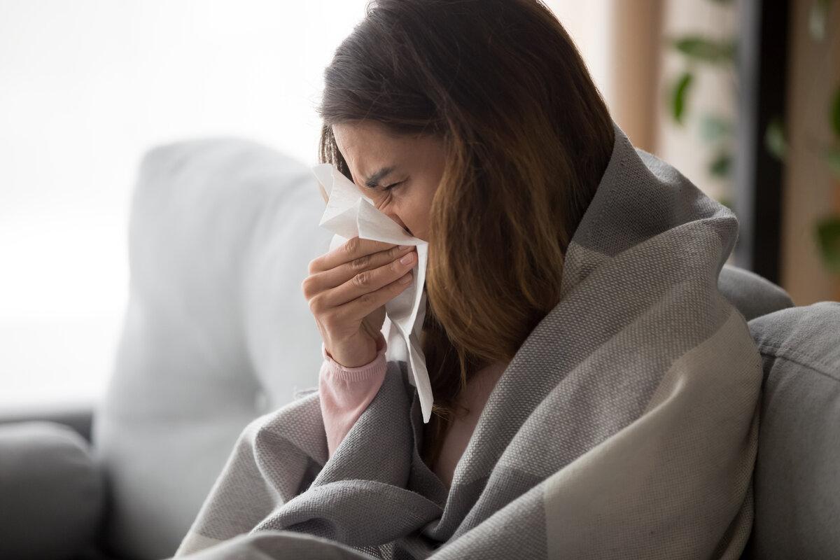 Febbre malattie da raffreddamento - persona malata