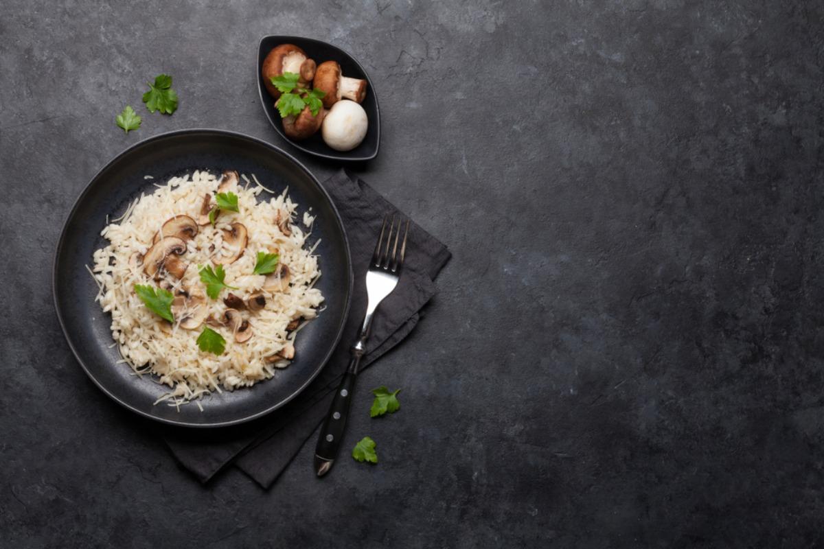 Riso piatto piano - risotto ai funghi