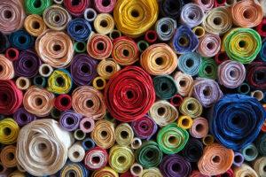 colori della primavera - tessuti primaverili