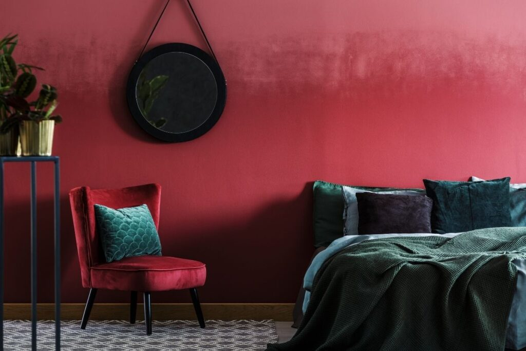 colore casa arredamento bordeaux