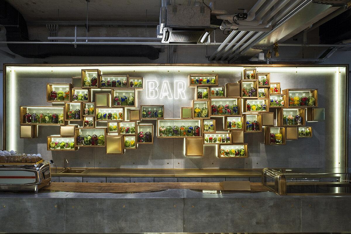 Design sostenibile - allestimento bar