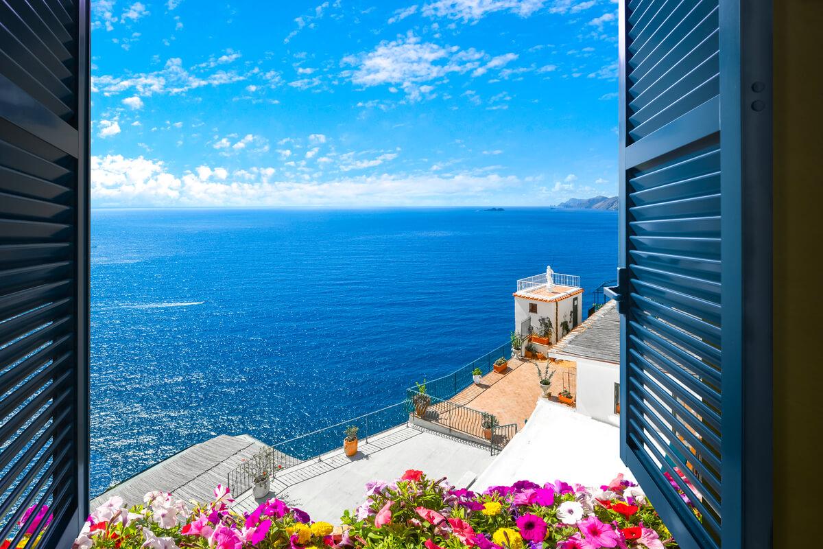 Il balcone in stile mediterraneo