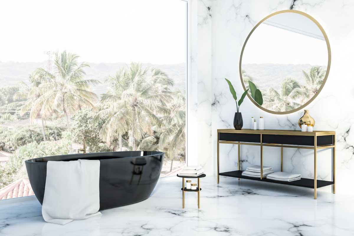 Come usare il marmo nella stanza da bagno in stile romantico