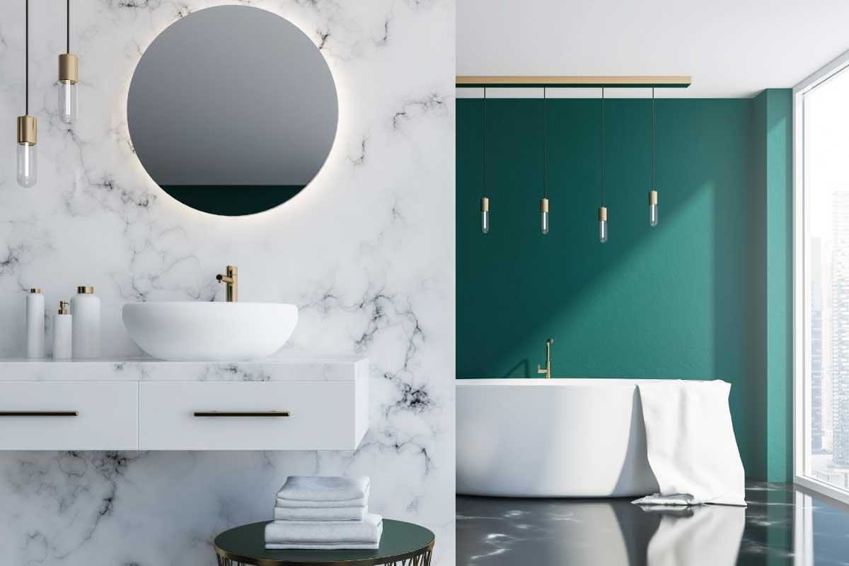 Come usare il marmo nella stanza da bagno per rivestire le superfici