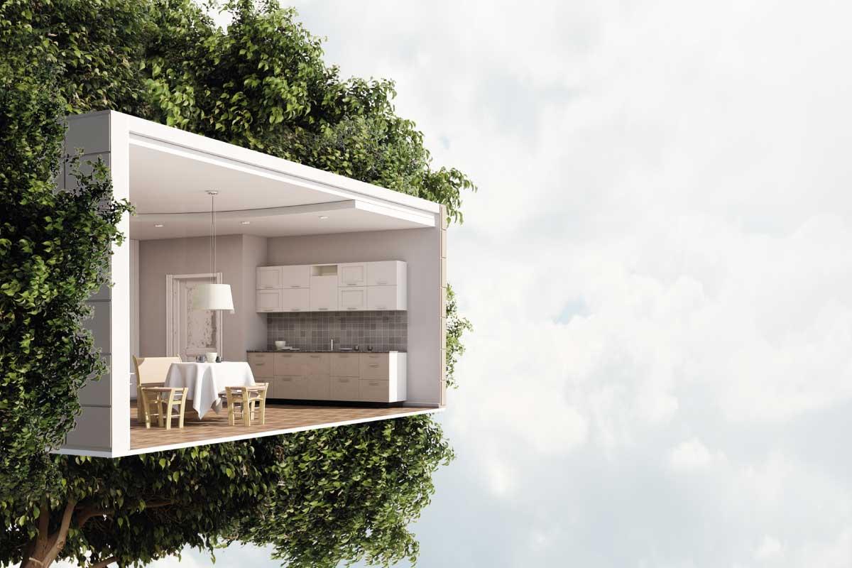 Il progetto di una casa sostenibile moderna