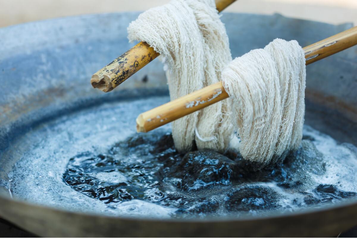 tintura vegetale dei tessuti - sostenibilità