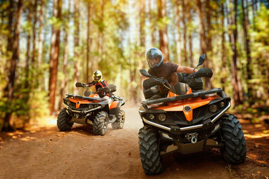 Si può andare nei boschi con veicoli a motore?