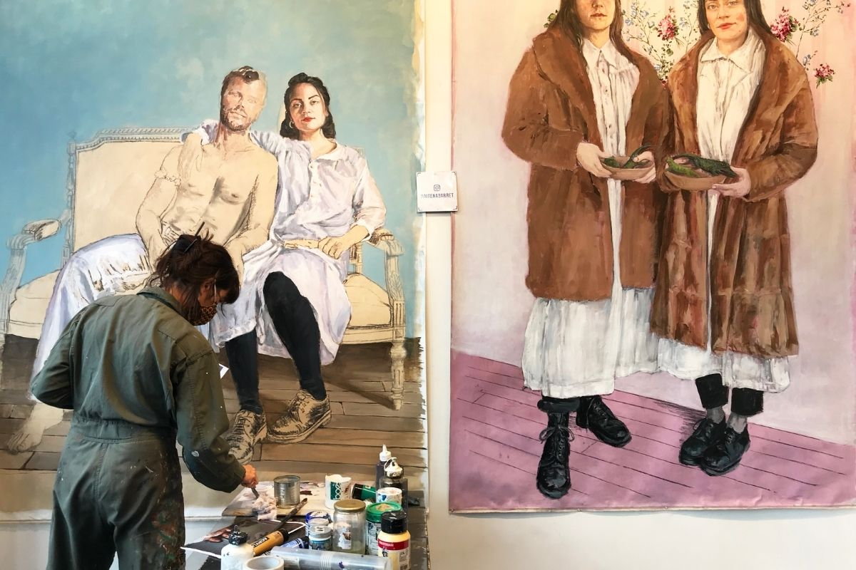 59 Rivoli Parigi artista al lavoro
