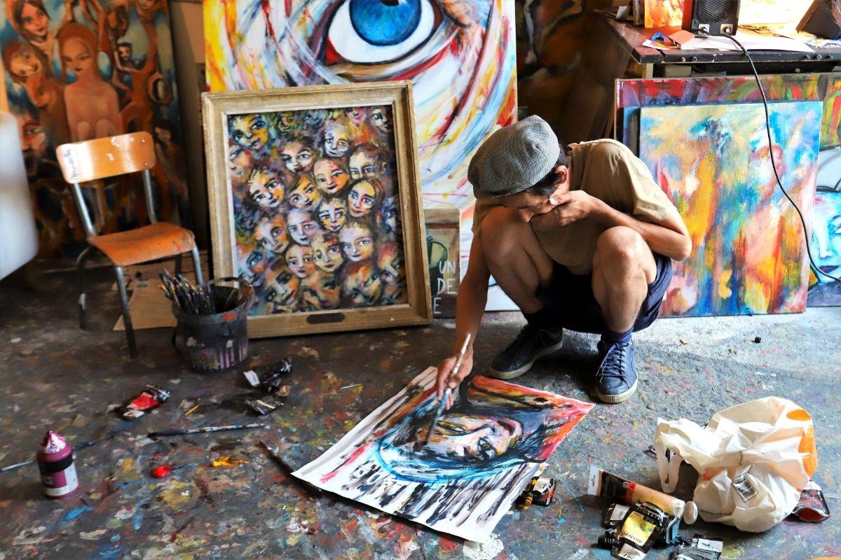artista di 59 Rivoli Parigi