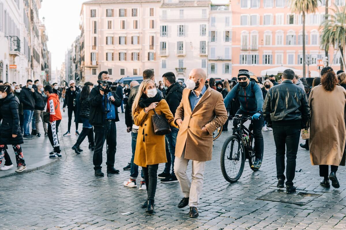Italia in zona bianca - mascherine