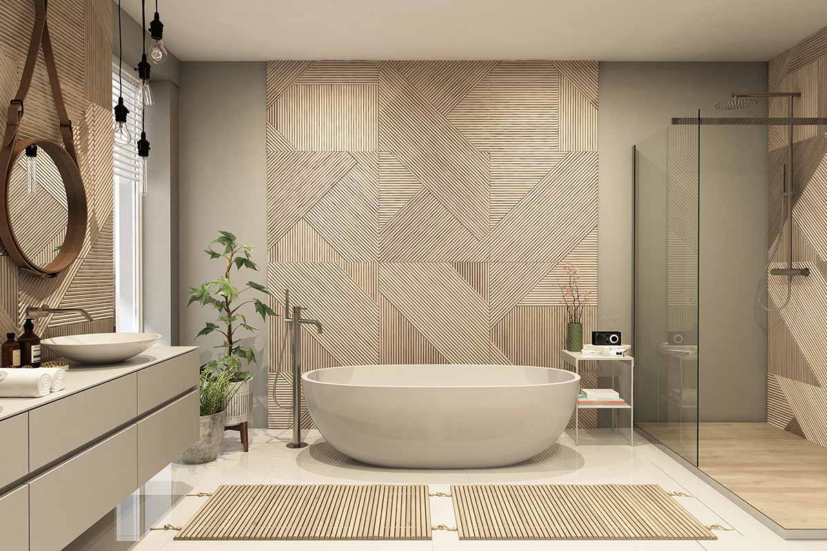 I materiali naturali che trasformano il bagno